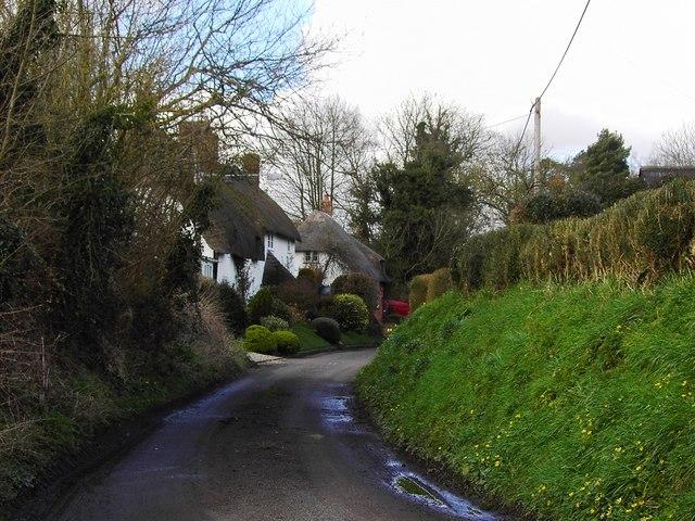 Thatched cottages, Kepnal, Wiltshire