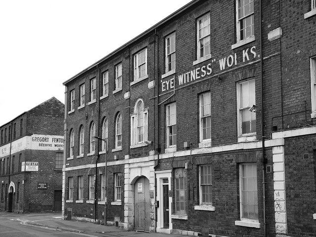 """Eye-Witness"" Works Milton St - Sheffield"