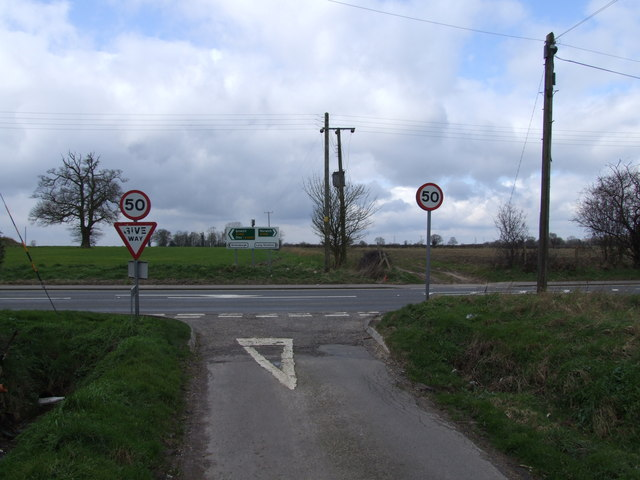 Junction of Parker's Lane and A140