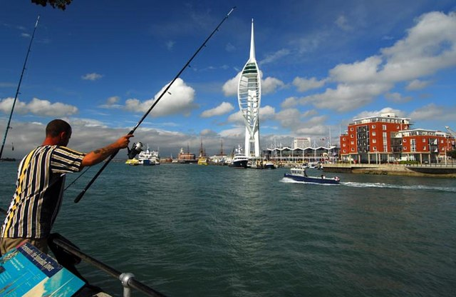 Spinnaker Tower and Gunwarf Quay from Old Portsmouth