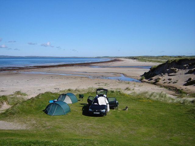 Our camp at Kintra, Islay
