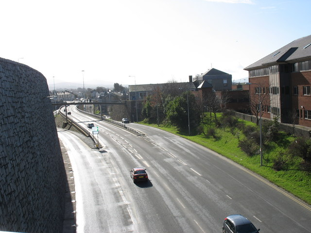 The flyover from the northern footbridge