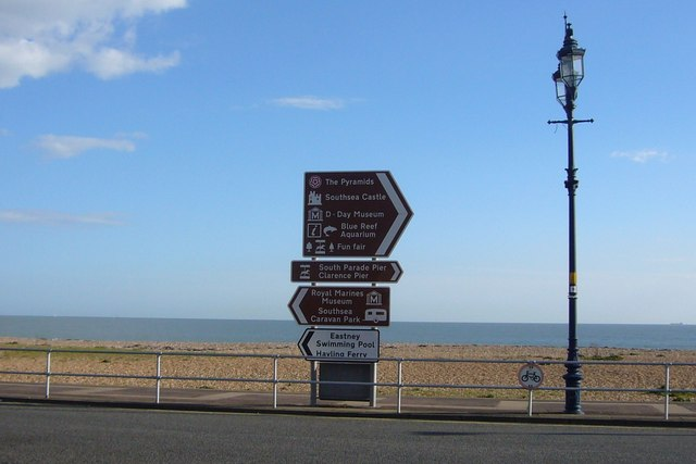 Local attractions sign, Eastney Esplanade