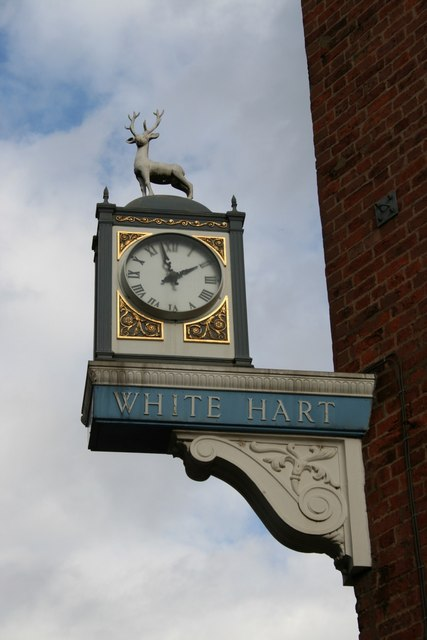 White Hart sign