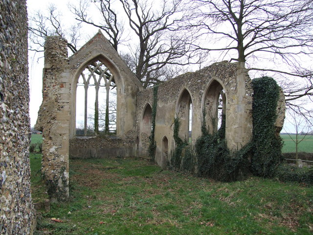 Inside the Ruins of Tivetshall St .Mary Church