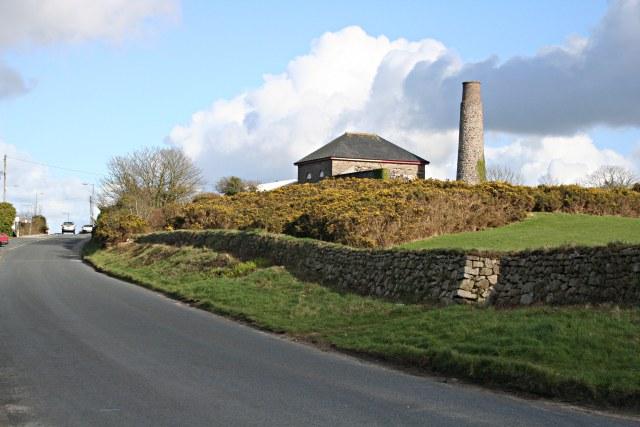 Dolcoath Road near the Dolcoath Mine