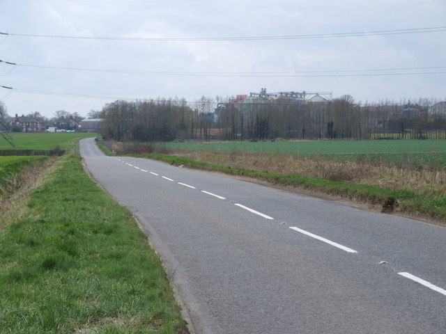 Along the B1134 to Hales Street