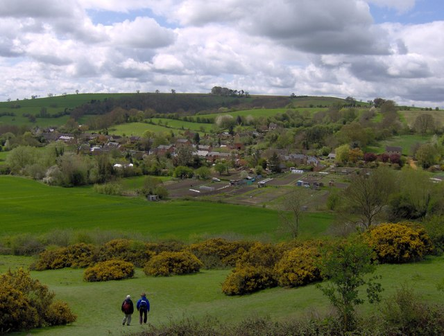 Brailes Allotments from Castle Hill