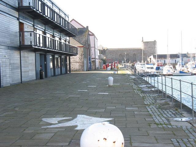 The Galeri Promenade overlooking Victoria Dock