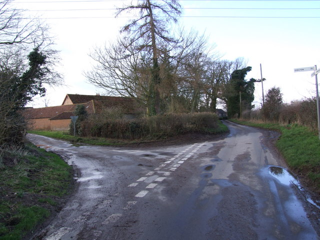 Road Junction at Stratton St. Michael