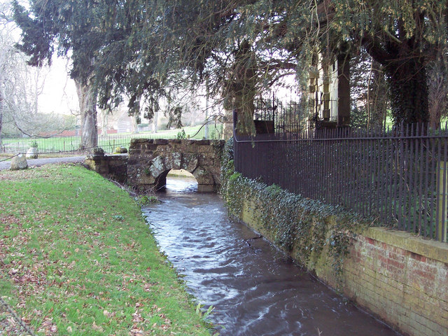 River Tarrant at the entrance to Eastbury House