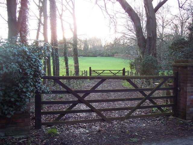 Field gates near the entrance to Eastbury House