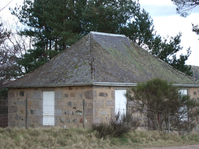 A 'Hall' by the North Deeside road opposite the Drumgesk road.