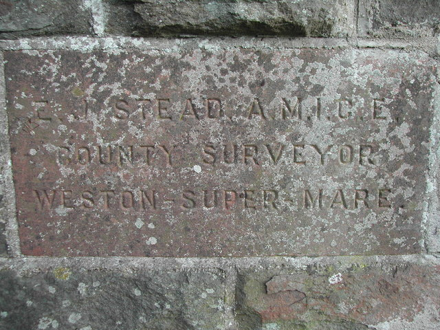 Dedication stone on bridge