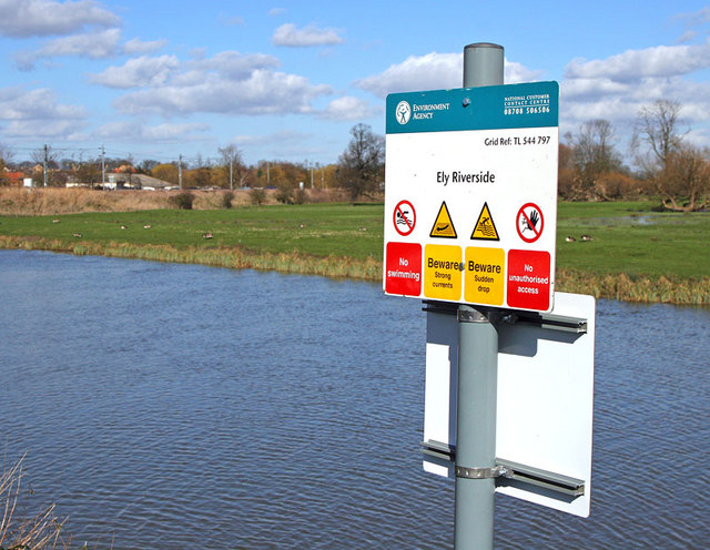 Location Sign - Ely Riverside