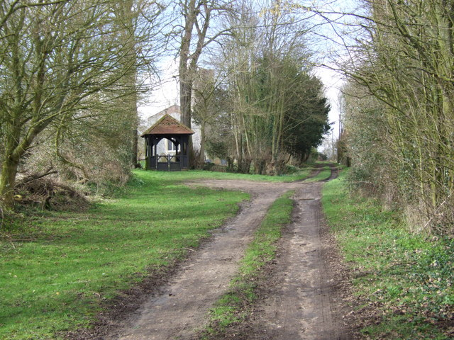 Drive and Lych Gate to Fritton Church