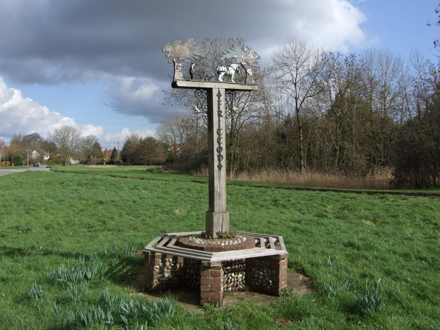 Fritton Village Seat and Sign