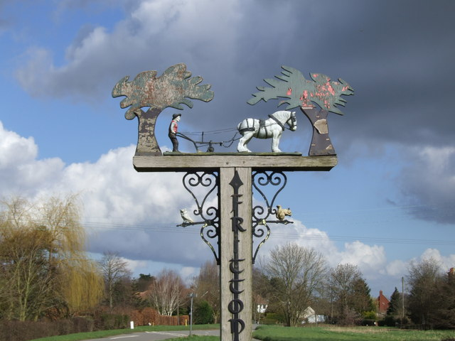 Detail of Fritton Village Sign