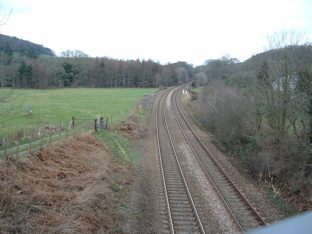 Main rail line between Penzance and Plymouth