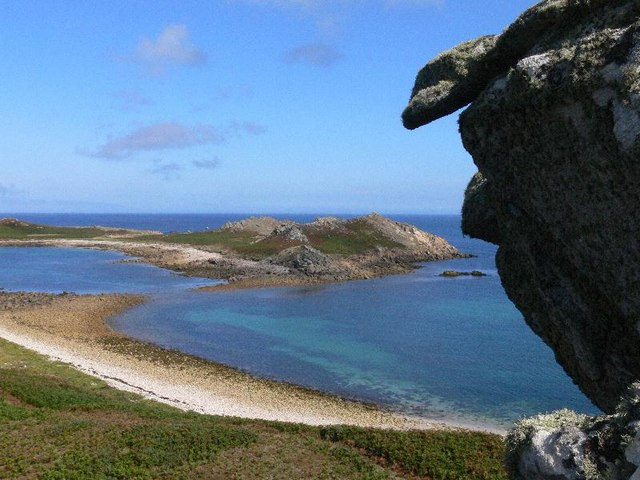 White Island viewed from Top Rock, St Martins, Isles of Scilly