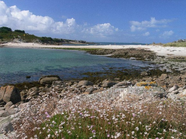 The (sand) Bar linking Gugh to St Agnes, from Gugh