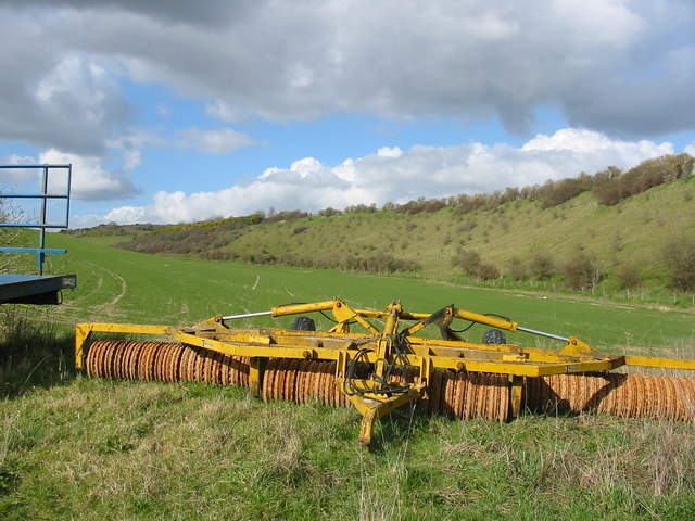 Downland grazing and arable field, Broad Chalke, Wiltshire