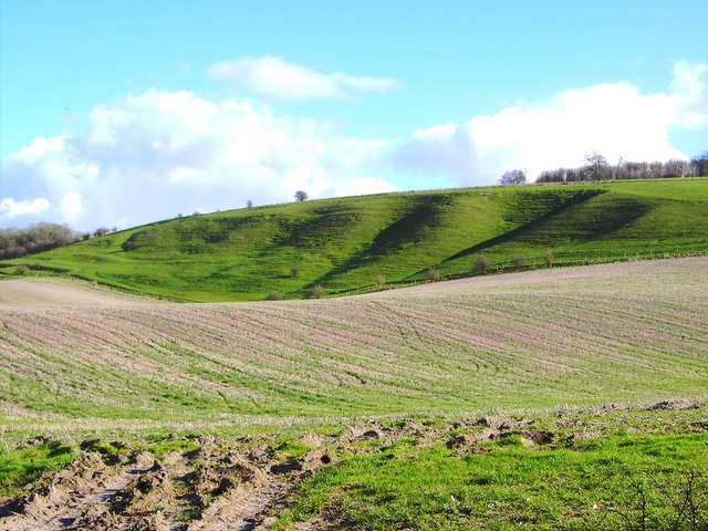 Land form, south of Easton Royal, Wiltshire