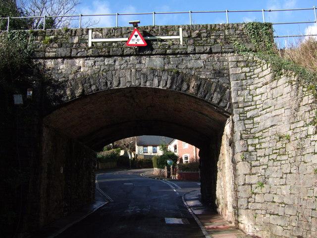 Railway bridge in Chelston