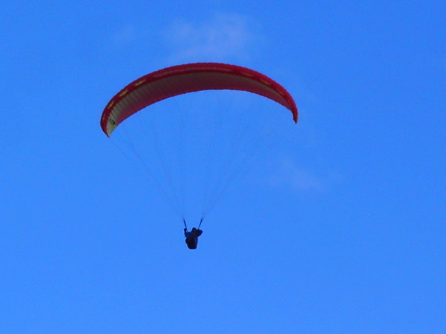 Hang-glider, Liddington Castle, Swindon