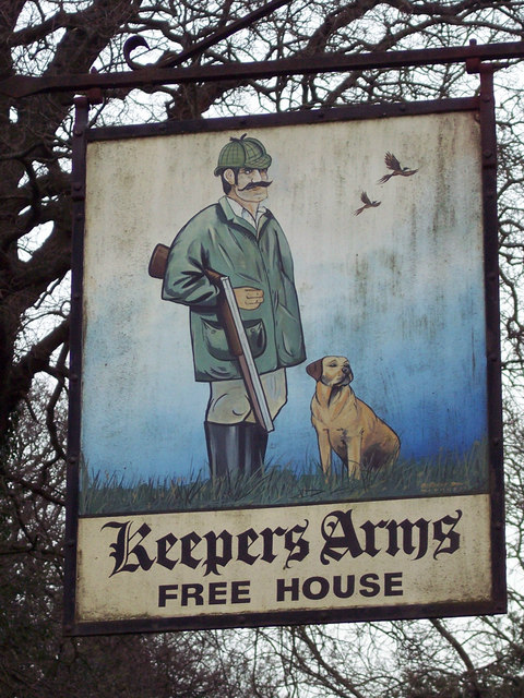 Sign for the Keepers Arms, Trotton