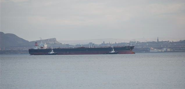 Tanker in The Forth