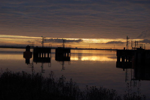 Combwich harbour at dawn