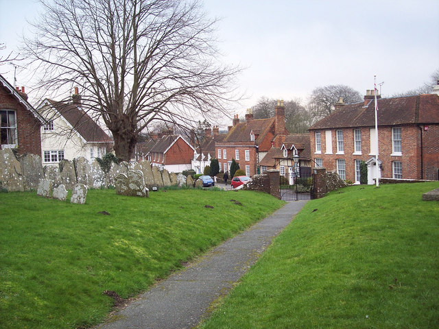 Churchyard and village street, South Harting