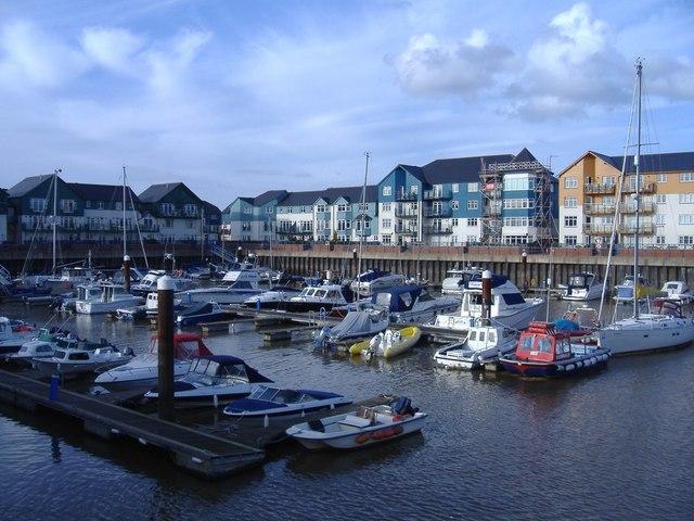 The marina, Exmouth