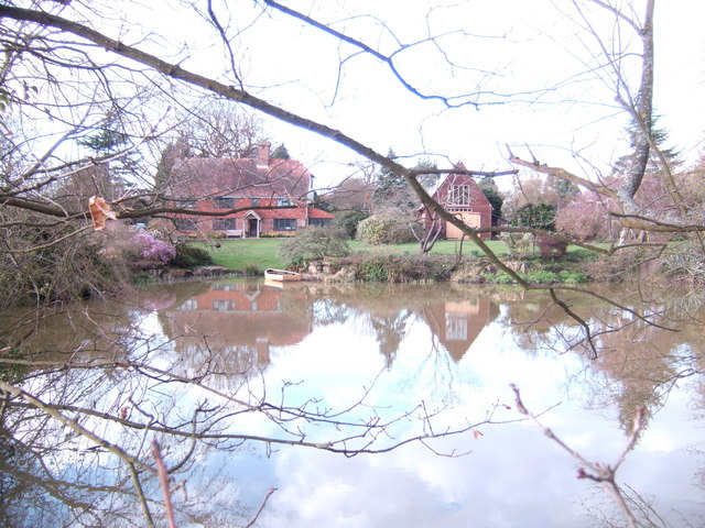 Wealden house and pond