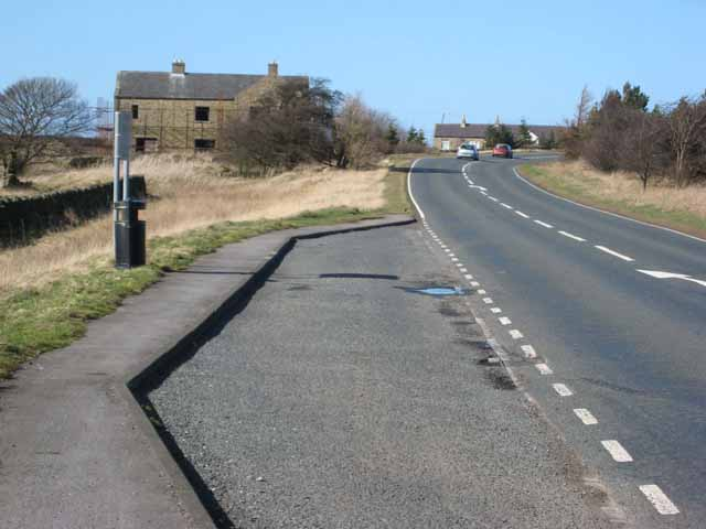 A bend on the A68