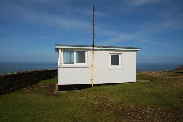 Coastguard lookout on Mynydd Mawr