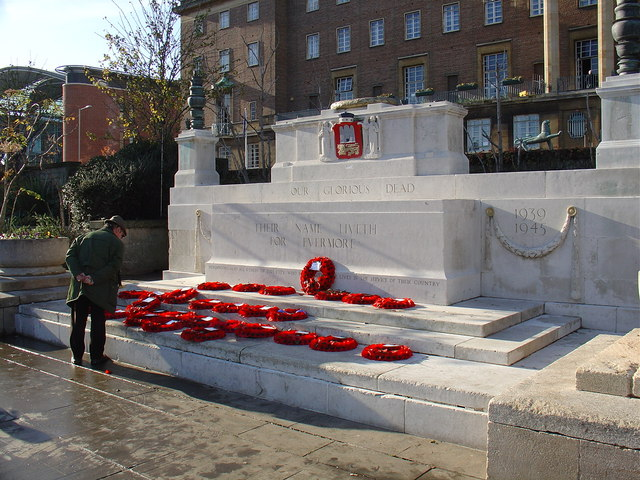 War memorial in the Garden of Remembrance, Norwich