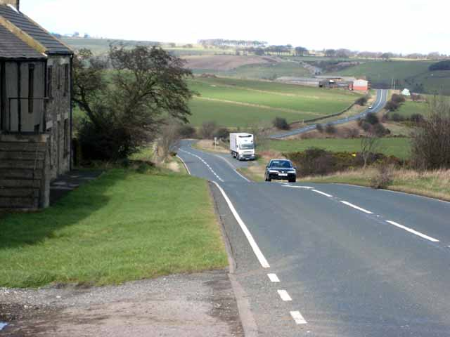 A68 at Low Hermitage Farm