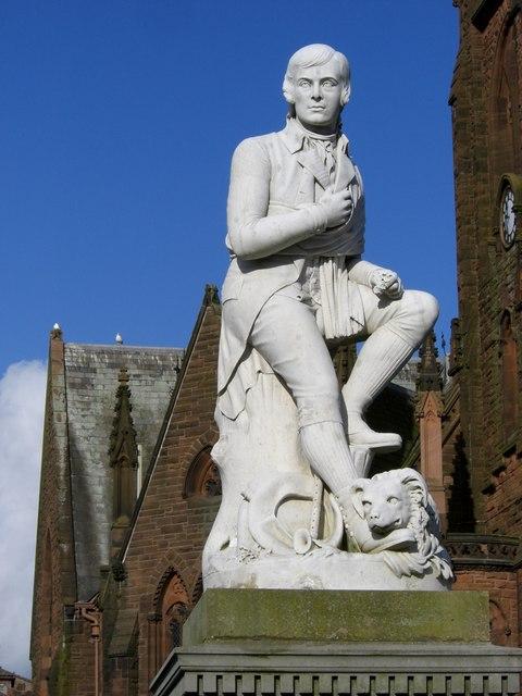 Burns Statue closeup