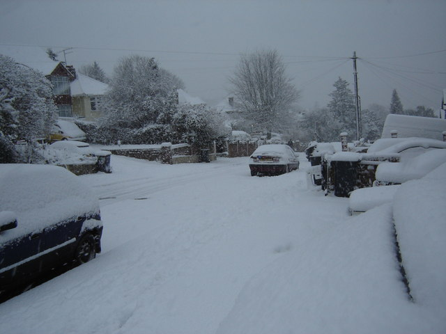 Coningsby Road in the snow!
