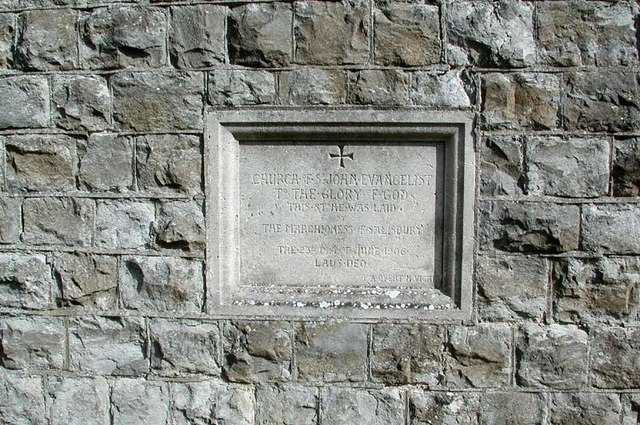 St John the Evangelist, High Cross, Herts Foundation stone