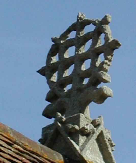 St Catherine, Sacombe, Herts - Cross on roof