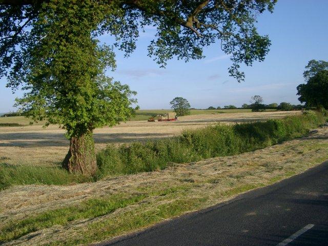 Collecting hay bales at Barr Green Farm
