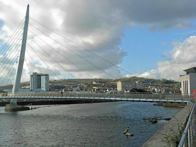 Swansea through the sail bridge