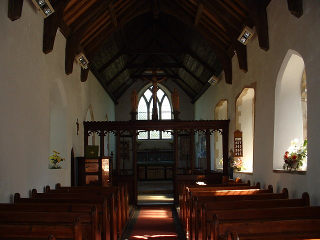 Inside church at Burgh St. Peter