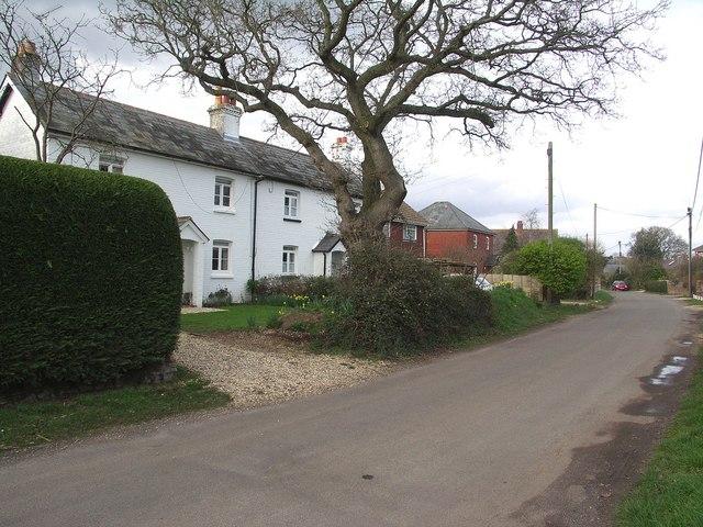 Croft Road in the village of Neacroft