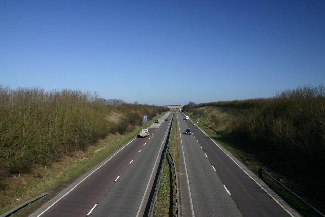 A11 at Allington Hill