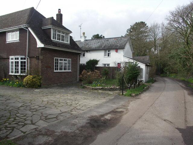 Houses in the hamlet of Waterditch