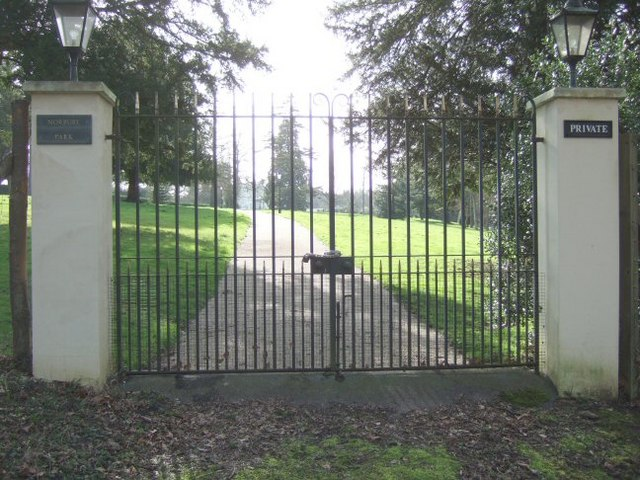 The Gates to Norbury Park House